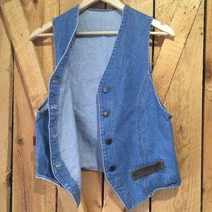Vintage Jackets & Coats - Vintage 80's Denim Vest by Topaz